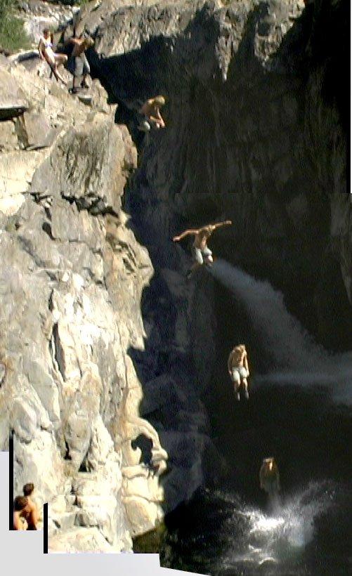 cliff at emerald pools