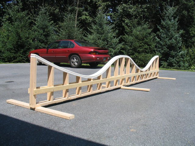 16' Rollercoaster Rail we built