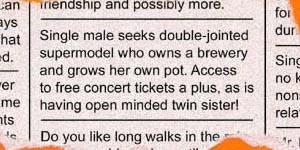 Single Male Seeks...
