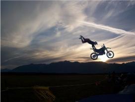 Vector Bike w/ Sunset