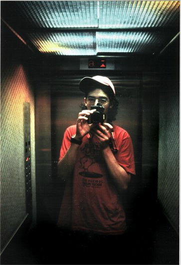 Self Portrail in the Elevator