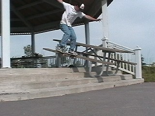 nose slide down a picnic table