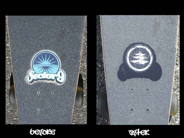 longbord deck before and after
