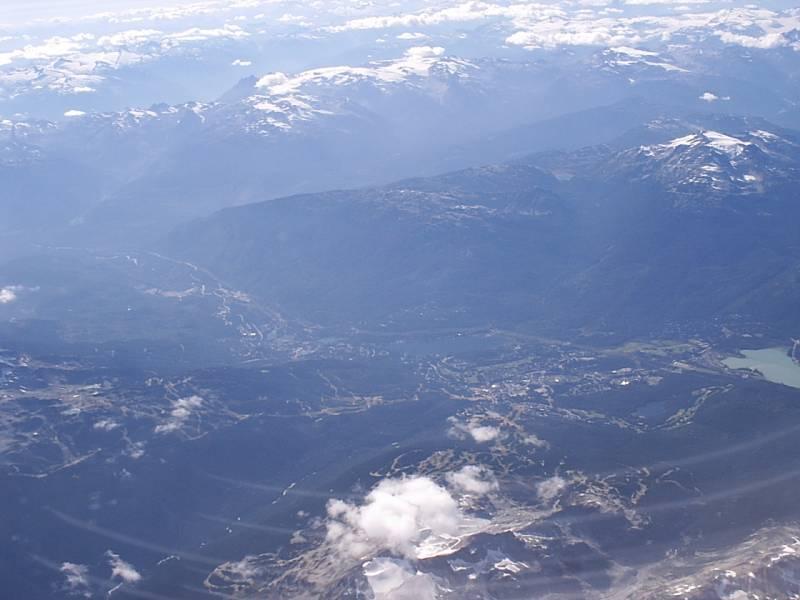 Whistler from 30000 feet