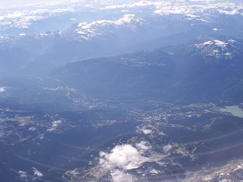 Whistler from 30000 feet