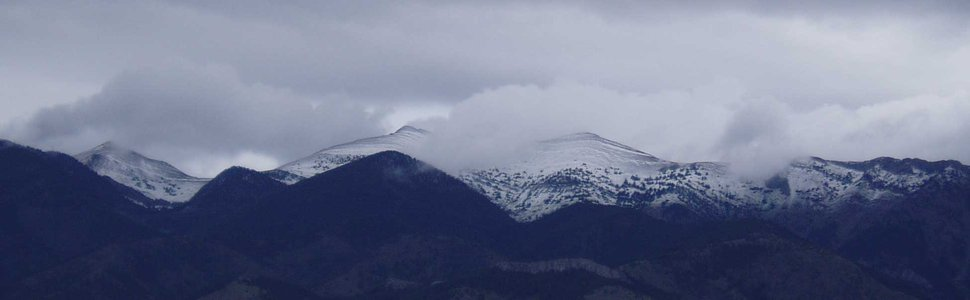 Sacajawea Peak, first snow of the season!
