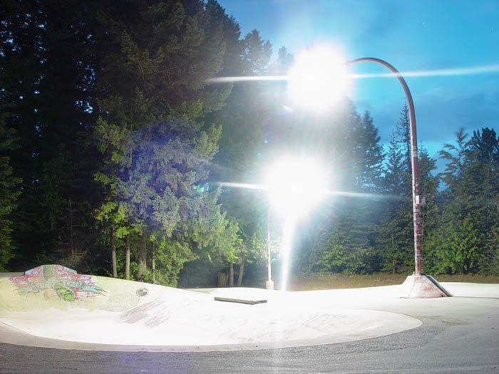 in Whistler skatepark