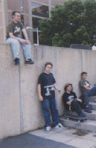 Mark Appleyard and Geoff Rowley chillin @ M.I.T. on June 2004!