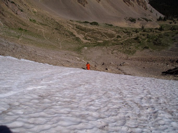 Snowfield on Sacajawea and...an escaped convict?