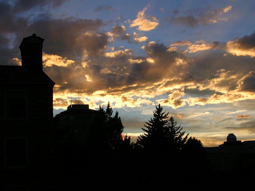 Sweet Sunset Photo from my CU dorm window