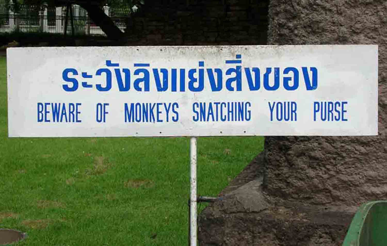 Beware of Monkies