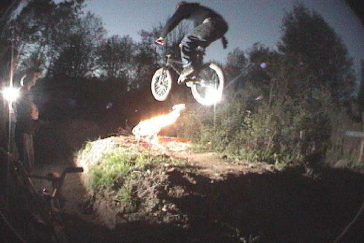 Fire Jump with camera flash