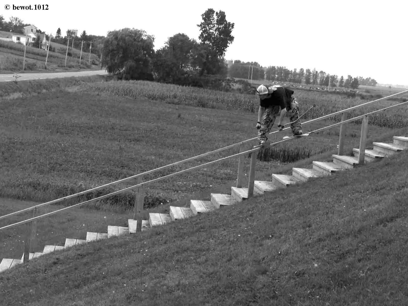 45 foot wooden rail
