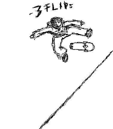 ms paint, 360 flip, quick sketch