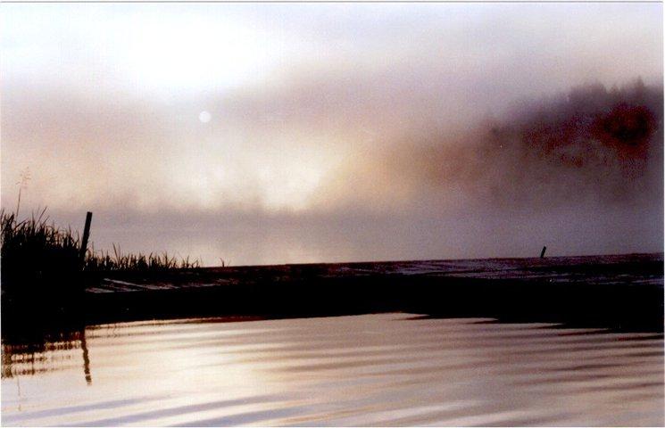 Sunrise at a misty lake 2