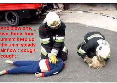 First CPR lesson