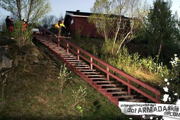 Armada teamrider JF Cusson railing in Narvik