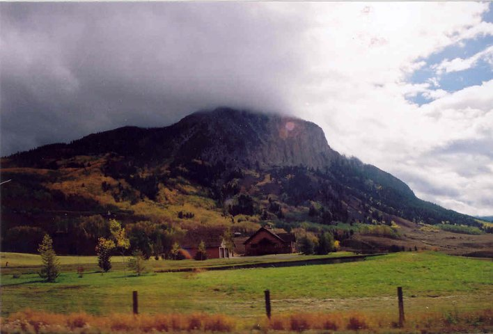 The Butte clouded over