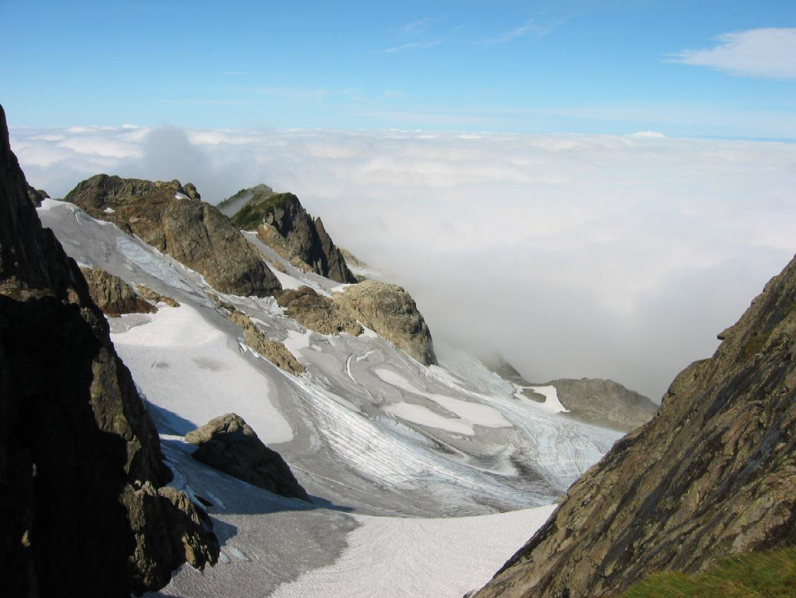 Tin Can Glacier Above Clouds