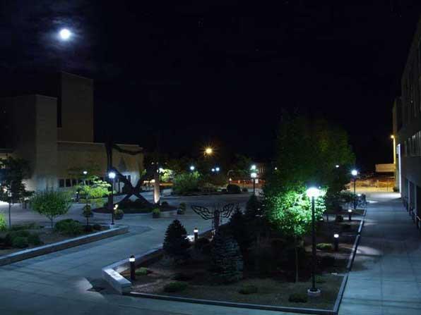 Nightshot on campus