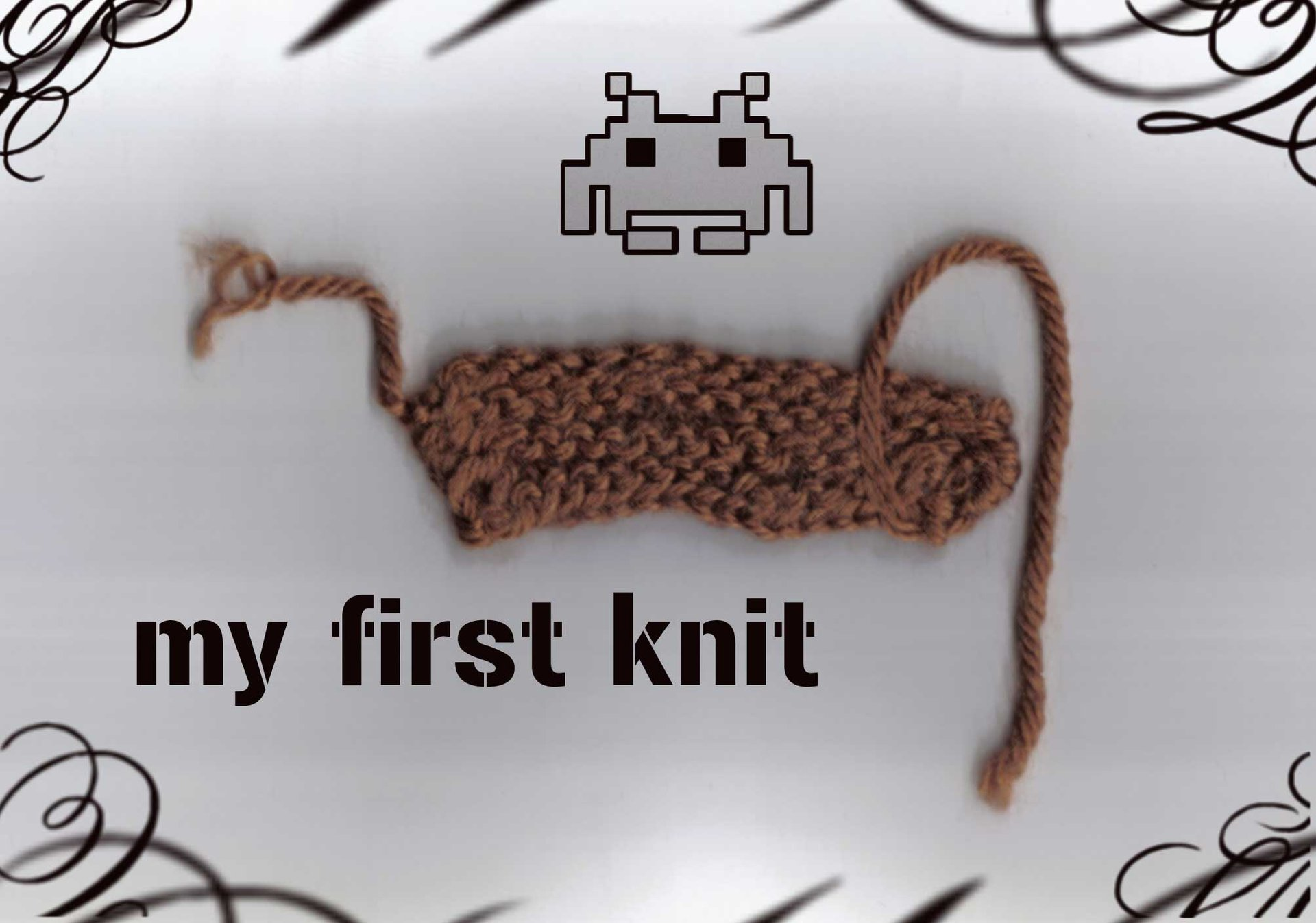my first knit!!!