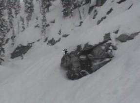 Large cliff bombage