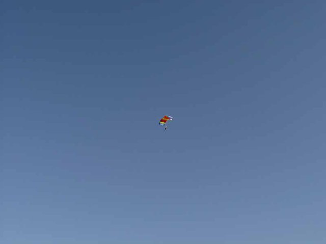 Under canopy...first solo skydive....good times