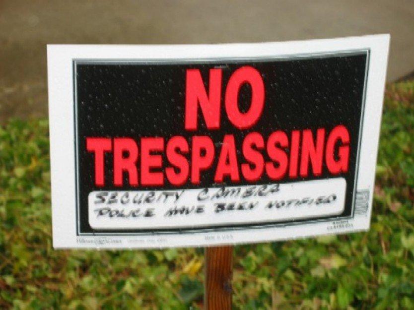 Trespassing Sign put up!!!!
