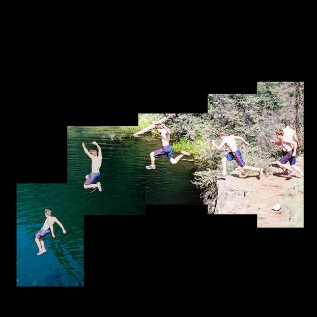 A little sequence of cliff jumping