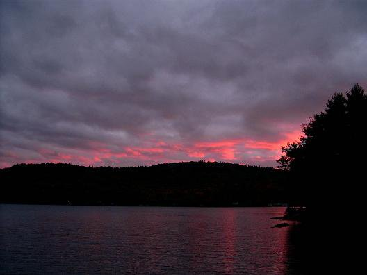 just after the sun has set, taken from my dock at my cottage.