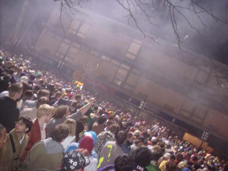 Halloween 04 state street, 5 minutes before they started breaking up the riotous behavior with gas