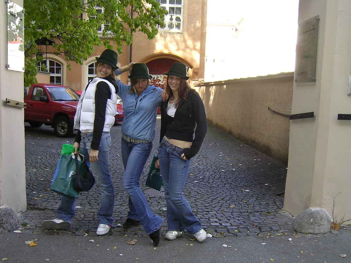 showin off our austrian hats...