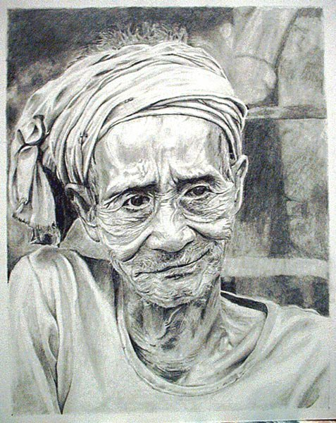 This is a drawing i did recenty of a 99year old dude...i just wanted some feedback...thanks