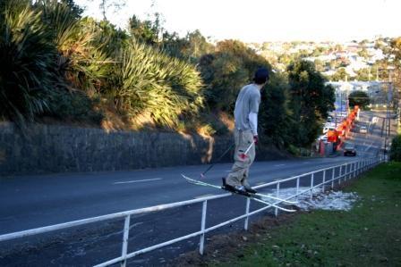 Chillin on my rail