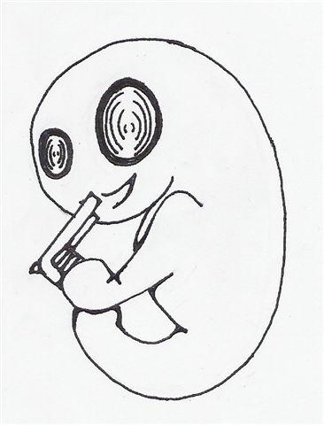 a fetus with a gun :)