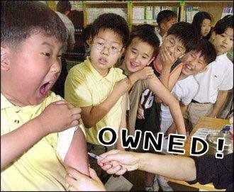 yo, chinese kid gettin' fuckin' owned