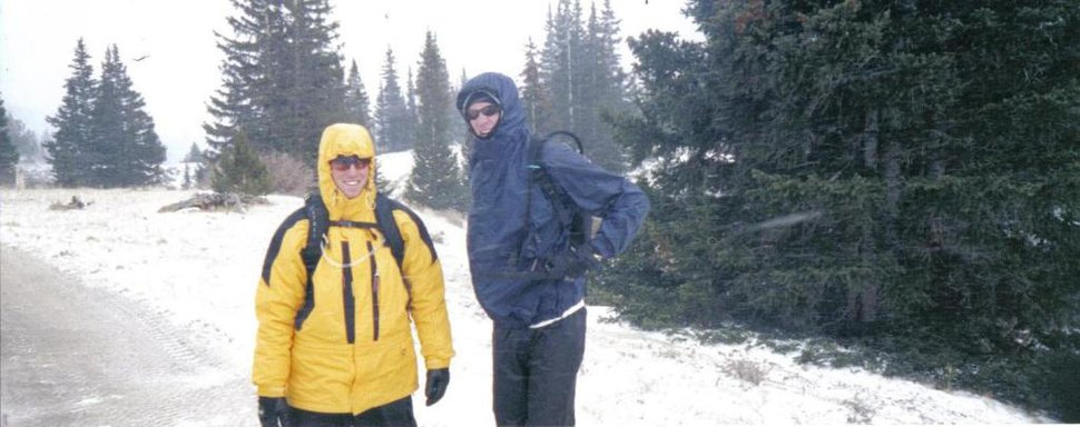 This was a backpacking expidition in early october, we picked the wrong day to make our ascent
