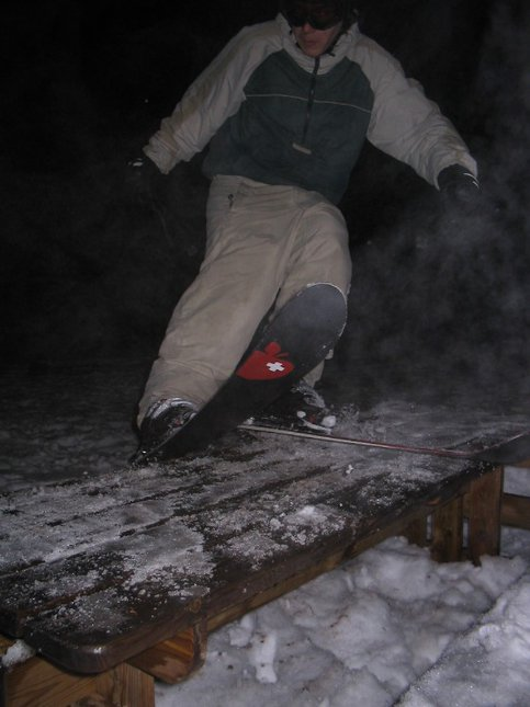 railin the picnic table