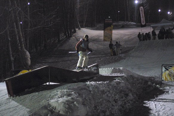 Down flat Down at froxen rail jam