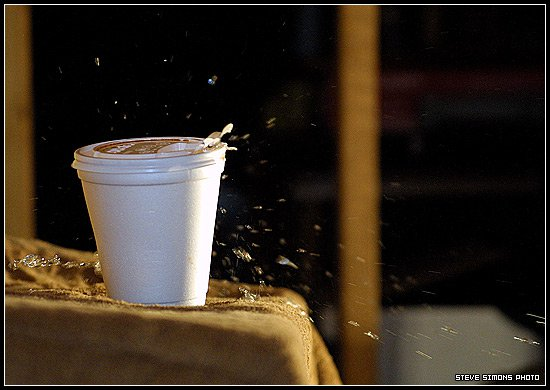 High Speed Photography: Stryofoam Cup filled with Water