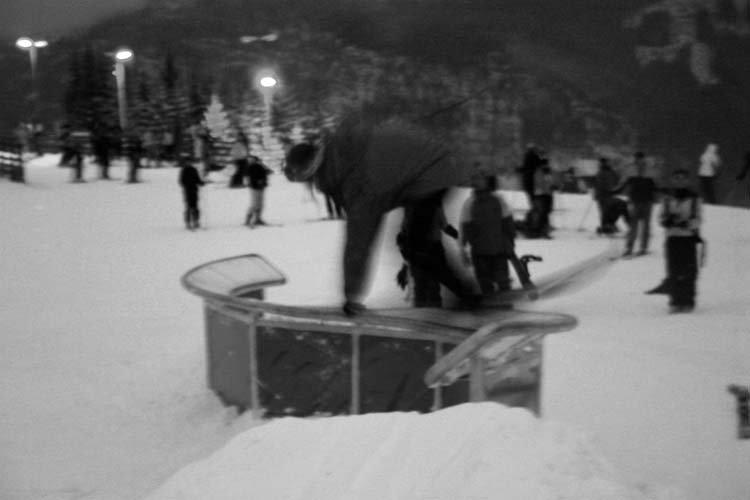 Sick railslide, (railslide to unnatural railslide, 270 off)