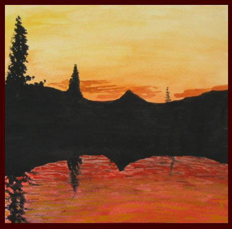 Sick Sunset Water Color Side 1