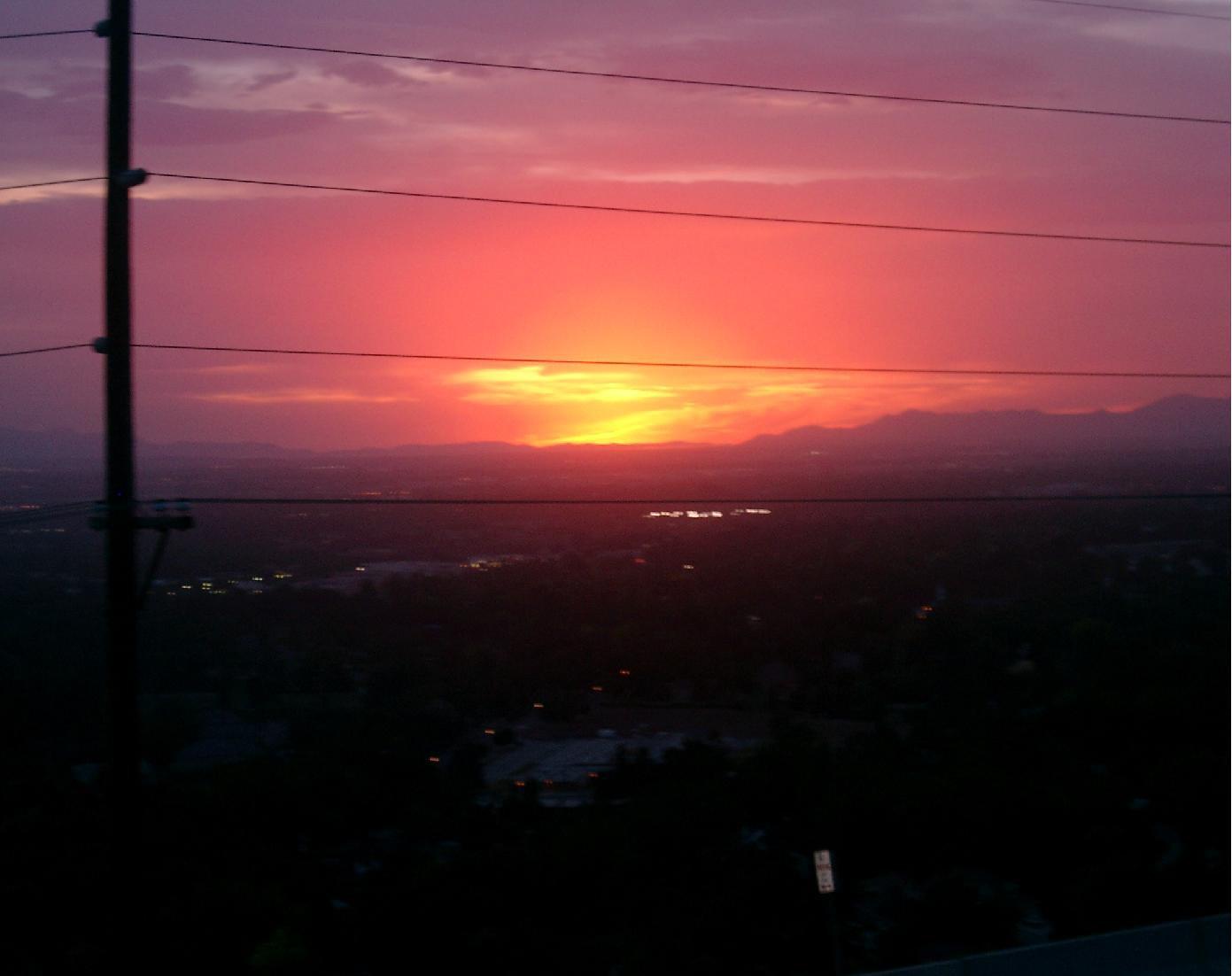 SunSet in Salt Lake City