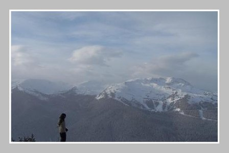 chillin on blackcomb with whistler peak in background