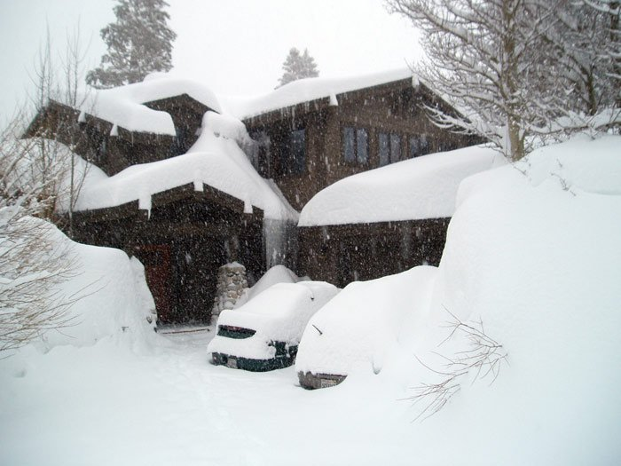 some mighty large snowbanks at my house