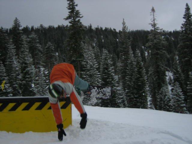 snowboarder bailbox