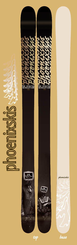 PHOENIXSKIS - 'The Digital Revolution' Topsheet Design