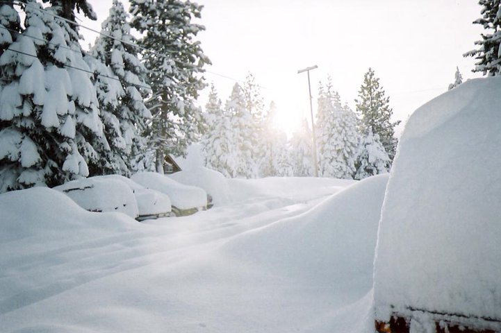 Just another Tahoe powder morning