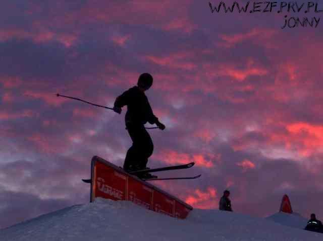 boardslide:) nice red sky