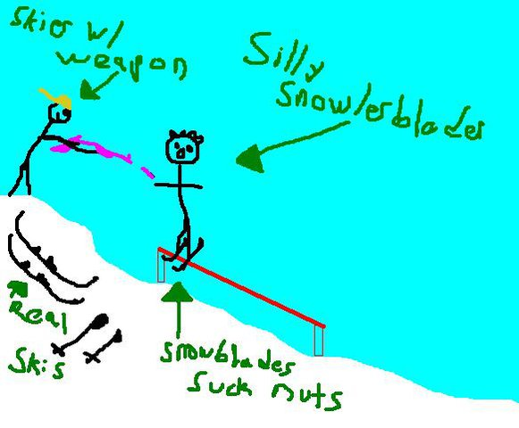 snowlerblader getting owned